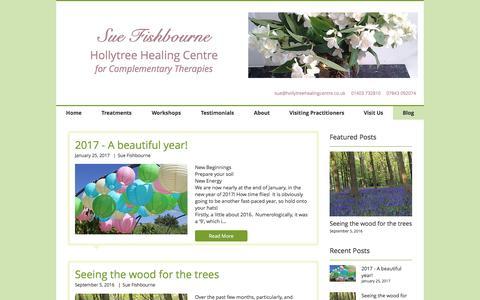 Screenshot of Blog hollytreehealing.co.uk - hollytreehealing   Blog - captured May 5, 2017