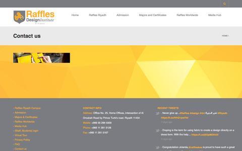 Screenshot of Contact Page arvixe.com - Contact us | Raffles Design Institute Riyadh - captured Feb. 17, 2016