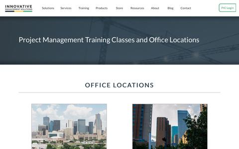 Screenshot of Locations Page ims-web.com - Locations   Innovative Management Solutions - captured May 21, 2017