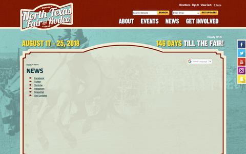 Screenshot of Press Page ntfair.com - News - captured March 25, 2018