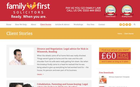 Screenshot of Case Studies Page familyfirstsolicitors.co.uk - Case Studies | Family First Solicitors | Oxford & Reading - captured Oct. 10, 2018