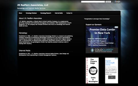 Screenshot of Home Page jrredfern.com - JR Redfern Associates, LLC - captured Oct. 3, 2014