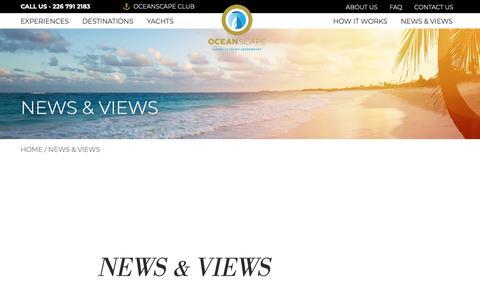 Screenshot of Blog oceanscapeyachts.com - News & Views - OceanScapeYachts - captured Dec. 10, 2018