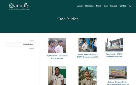 Screenshot of Case Studies Page anudip.org - Case Studies - anudip.org - captured Nov. 21, 2016