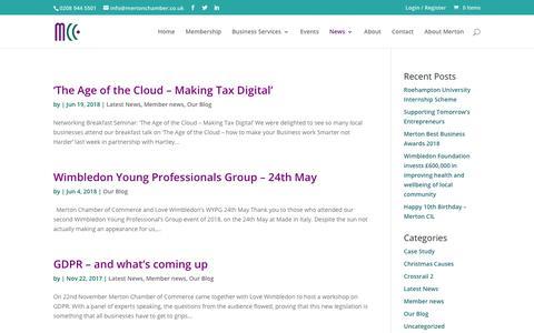 Screenshot of Blog mertonchamber.co.uk - Our Blog Archives - Merton Chamber of Commerce - captured Oct. 18, 2018