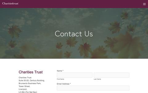Screenshot of Contact Page charitiestrust.org.uk - Contact Us — Charities Trust - captured May 10, 2017