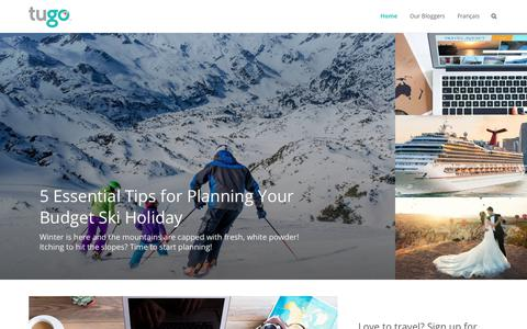 Screenshot of Blog tugo.com - TuGo Travel Blog | Travel Insurance Canada - captured Jan. 25, 2018
