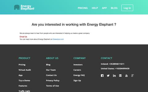 Screenshot of Jobs Page energyelephant.com - EnergyElephant : Careers - captured Nov. 16, 2018