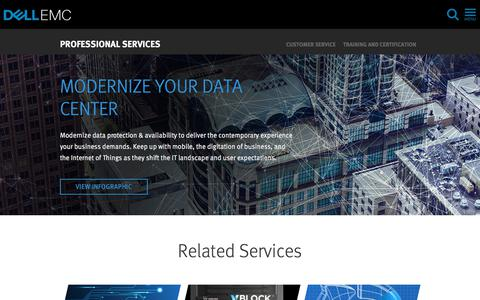 Screenshot of Services Page dellemc.com - Support and Deployment | Dell EMC US - captured Feb. 9, 2018