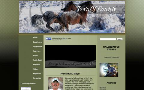 Screenshot of Home Page rangely.com - Rangely Colorado Homepage - captured Sept. 1, 2015