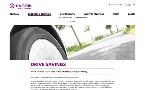 Drive savings - Evonik Industries AG