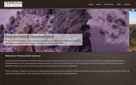 Screenshot of Home Page terrenus.com.au - Terrenus Earth Sciences - captured Oct. 18, 2018