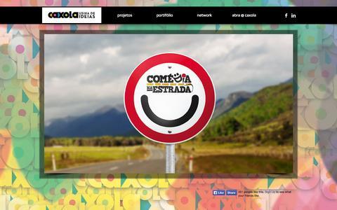 Screenshot of Home Page caxola.com.br - Caxola | Usina de Ideias - captured Oct. 2, 2014