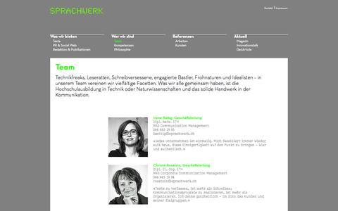 Screenshot of Team Page sprachwerk.ch - » Team - Sprachwerk - captured Oct. 27, 2014