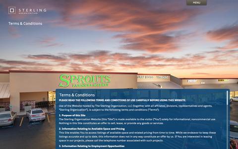 Screenshot of Terms Page sterlingorganization.com - Terms & Conditions | Sterling Organization - captured Aug. 15, 2015