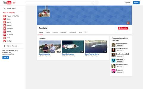 Screenshot of YouTube Page youtube.com - Goolets  - YouTube - captured Oct. 25, 2014