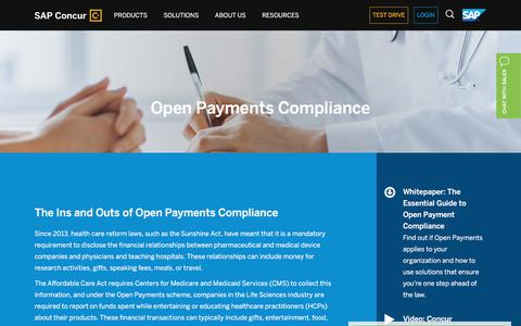 Open Payments Compliance for Medical & Healthcare Companies - SAP Concur