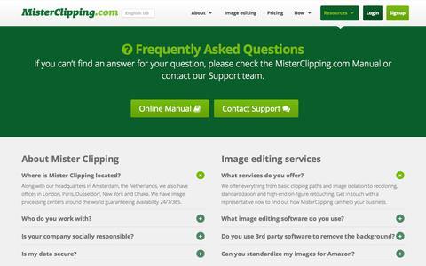 Screenshot of FAQ Page misterclipping.com - FAQ US - Mister Clipping - captured Nov. 2, 2014