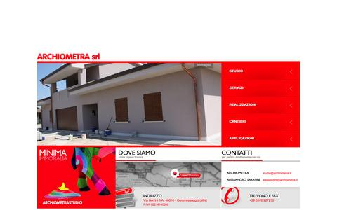 Screenshot of Home Page archiometra.it captured Oct. 24, 2014
