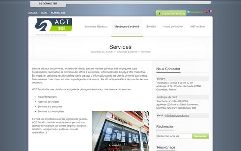 Screenshot of Services Page agt-retail.com - AGT Retail, Improve Network Performance,    Services - captured Sept. 30, 2014