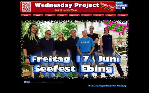Screenshot of Home Page wednesday-project.de - best of rockin´music: Wednesday-Project - captured June 10, 2016