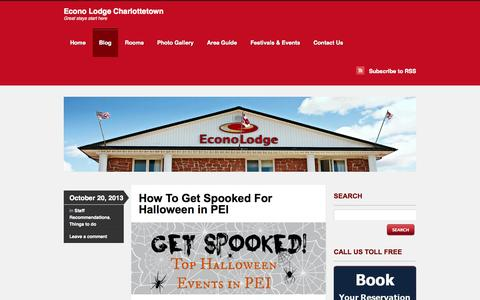Screenshot of Blog econolodgepei.com - Blog  | Econo Lodge Charlottetown | Great stays start here - captured Oct. 1, 2014