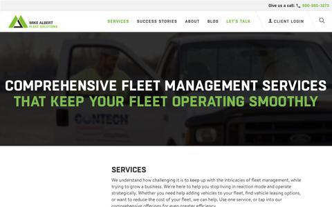 Screenshot of Support Page mikealbert.com - Fleet Management Services | Mike Albert Fleet Solutions - captured Oct. 18, 2018