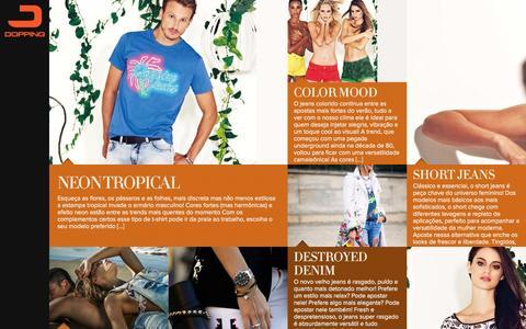 Screenshot of Blog dopping.com.br - Dopping Jeans | Blog DPG | Só mais um site WordPress - captured Sept. 30, 2014