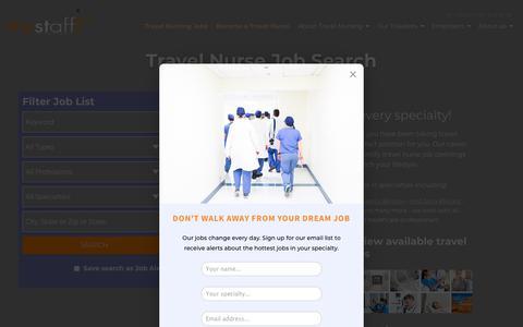Screenshot of Jobs Page trustaff.com - Travel Nurse Jobs - trustaff - captured Aug. 19, 2018