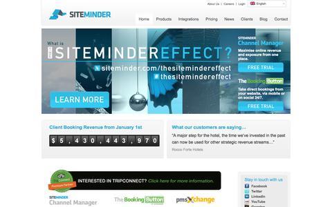 Screenshot of Home Page siteminder.com - Channel Manager & Hotel Booking Software   SiteMinder - captured Oct. 10, 2014