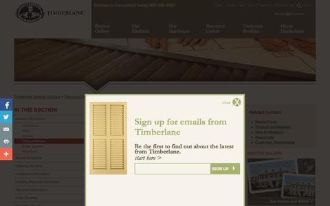 Screenshot of Pricing Page timberlane.com - Timberlane Exterior Shutters :: Pricing Information - captured Nov. 4, 2014