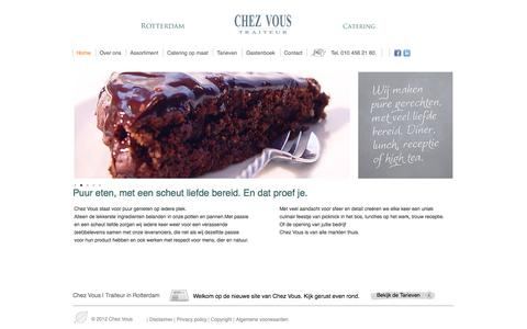 Screenshot of Home Page chezvous.nl - Homepage - captured Oct. 7, 2014