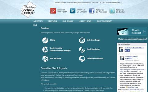 Screenshot of Services Page australianebookpublisher.com.au - Our Service - Australian eBook Publisher - captured Sept. 30, 2014