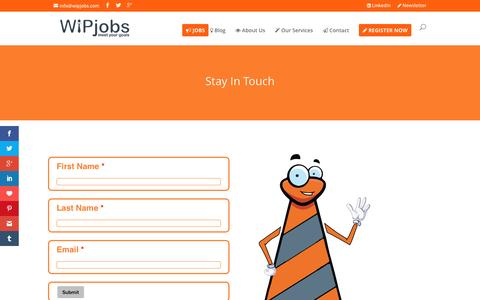 Screenshot of Signup Page wipjobs.com - SignUp - WiPjobs - captured Dec. 14, 2016