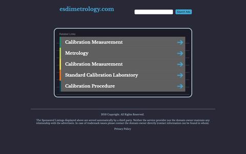 Screenshot of Home Page esdimetrology.com - esdimetrology.com - captured Sept. 28, 2018