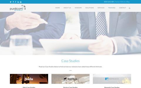 Screenshot of Case Studies Page purdi.com - Case Studies - Purdicom - captured Nov. 15, 2016