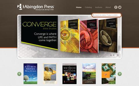 Screenshot of Home Page abingdonpress.com - Abingdon Press - captured July 11, 2014