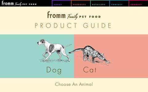 Screenshot of Products Page frommfamily.com - Product Guide - Fromm Family Foods - captured Oct. 6, 2014