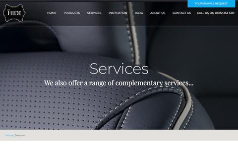 Screenshot of Services Page ukhide.co.uk - Services - UK Hide - captured Sept. 24, 2018