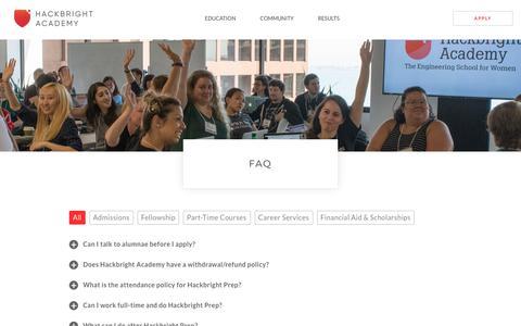 FAQ | Hackbright Academy