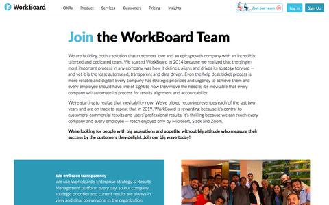 Screenshot of Jobs Page workboard.com - Jobs at WorkBoard - captured Oct. 11, 2019