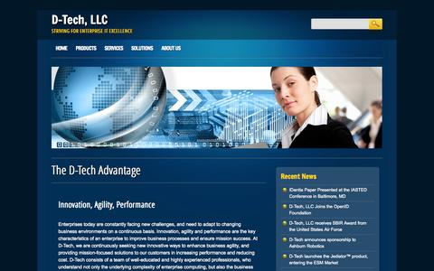 Screenshot of Home Page dtechspace.com - D-Tech, LLC | Striving for Enterprise IT Excellence - captured Oct. 3, 2014