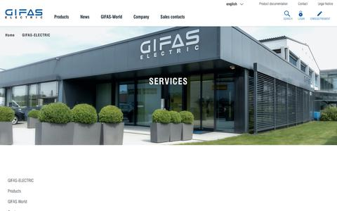 Screenshot of Services Page gifas.ch - Services - GIFAS-ELECTRIC GmbH - captured Sept. 26, 2018