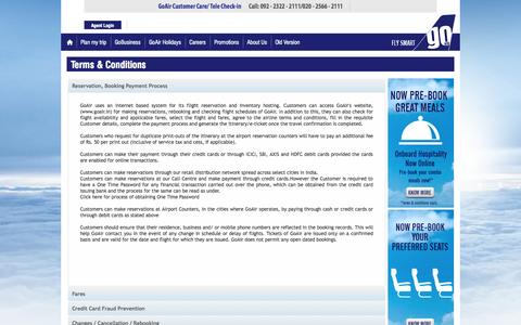 Screenshot of Terms Page goair.in - GoAir - Terms & Conditions - captured Oct. 30, 2014
