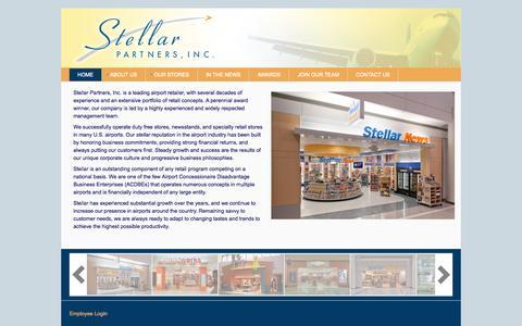 Screenshot of Home Page stellarairportstores.com - Stellar Partners, Inc. | Airport Concessionaire - captured Oct. 7, 2014