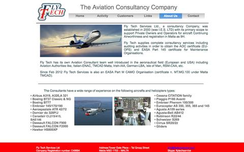 Screenshot of About Page flytechservice.com - about - captured Nov. 3, 2014
