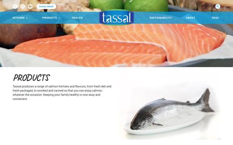 Screenshot of Products Page tassal.com.au - Tassal Salmon Products - Fresh Salmon - Smoked Salmon - captured Oct. 20, 2018