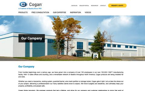 Screenshot of About Page cogan.com - Our Company | Cogan - captured Jan. 18, 2019