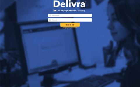 Screenshot of Support Page delivra.net - Please Login - captured June 18, 2019