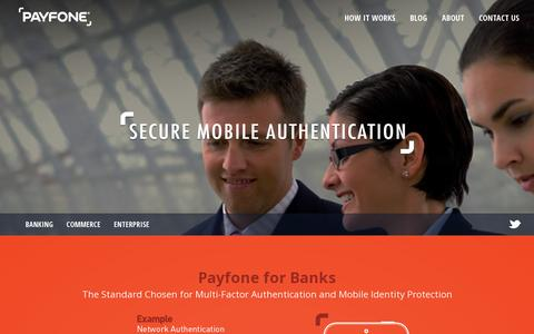 Screenshot of Home Page payfone.com - Payfone - captured July 17, 2014
